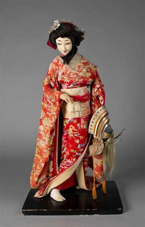 composition doll with cloth japanese cloth and composition standing doll