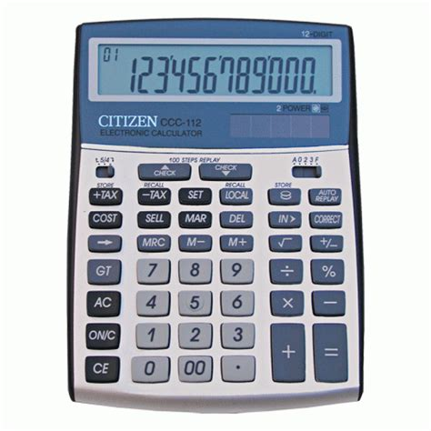 Calculator Citizen 12 Digit Bisa Check Back Correct citizen ccc 112 check correct desktop calculator