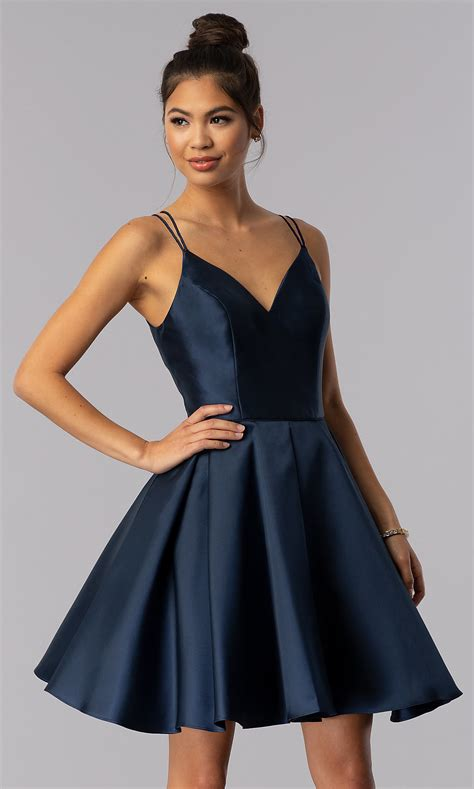 alyce double strap  neck homecoming dress promgirl