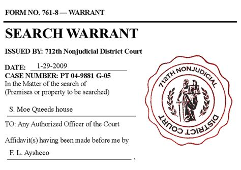 Search Warrant In The Search Warrant Conundrum And Crime Joe Giacalone Net