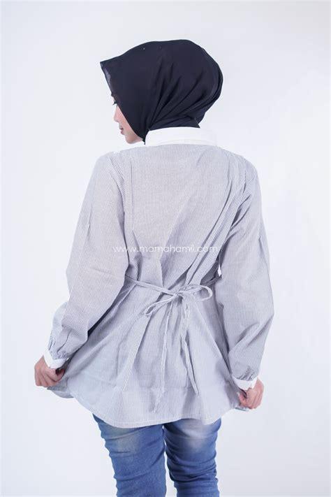 Salur Renda by Baju Kerja Muslim Lengan Panjang Salur