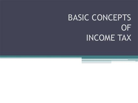 Mba Taxation Programs In India by Introduction To Income Tax