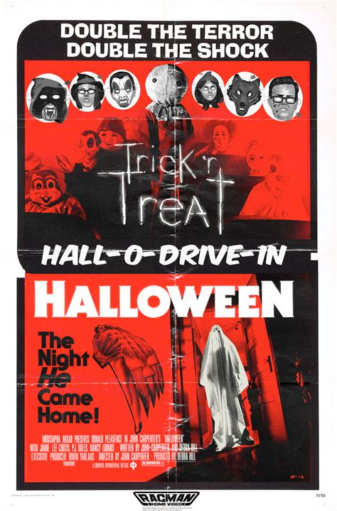 horrors  halloween halloween double feature posters