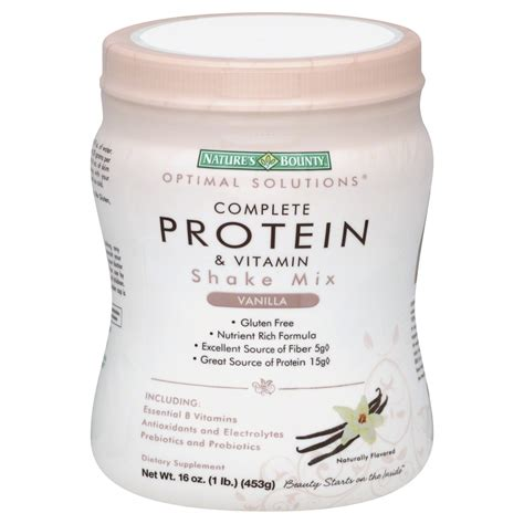 Nature S Shake Mix Formula 1 Vanilla nature s bounty protein shake mix vanilla 16 oz shop