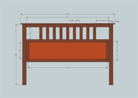 plans for a headboard ana white full size slatted headboard diy projects