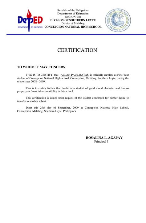 certificate of moral character template heading of moral