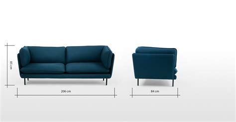 helles sofa wes 3 sitzer sofa helles petrolblau made