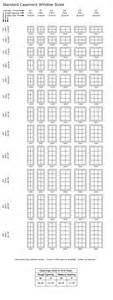 Standard window sizing to size shown standard window sizing chart 24