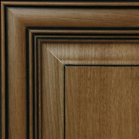 glazed brown cabinets hazelnut with black glaze kitchen