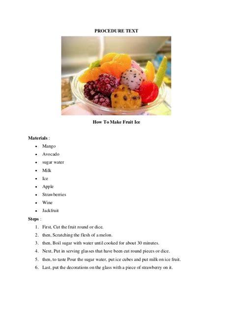procedure text tutorial hijab dalam bahasa inggris procedure text membuat salad buah contoh recout texs