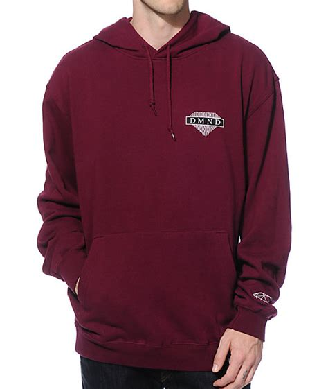 Kaos Supply Co Dmnd Maroon supply co wavy hoodie zumiez