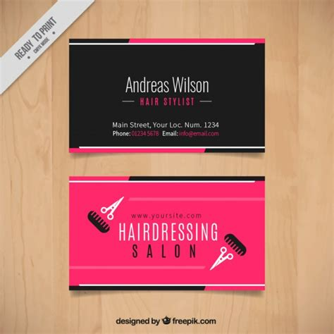 Hair Dresser Salon by Hairdressing Salon Card With Scissors And Combs Vector Free