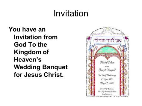 Wedding Invitation Word God by The Kingdom Of Heaven S Wedding Banquet Ppt