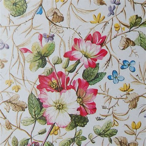 Floral Decoupage Paper - vintage paper country flowers and leaves decoupage