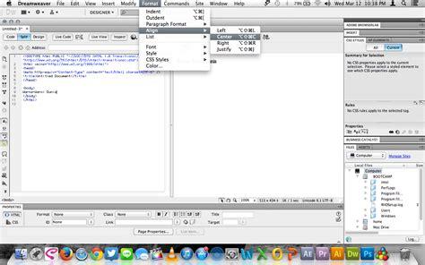 format html dreamweaver cara menggunakan menu insert hyperlink pada adobe
