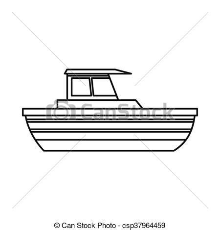 boat outline pic motor boat icon outline style motor boat icon in outline