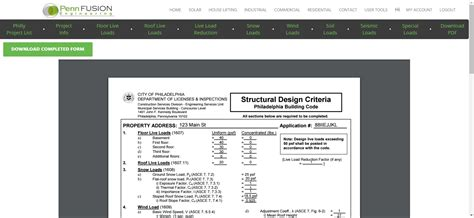 design criteria by zip philadelphia structural design criteria form