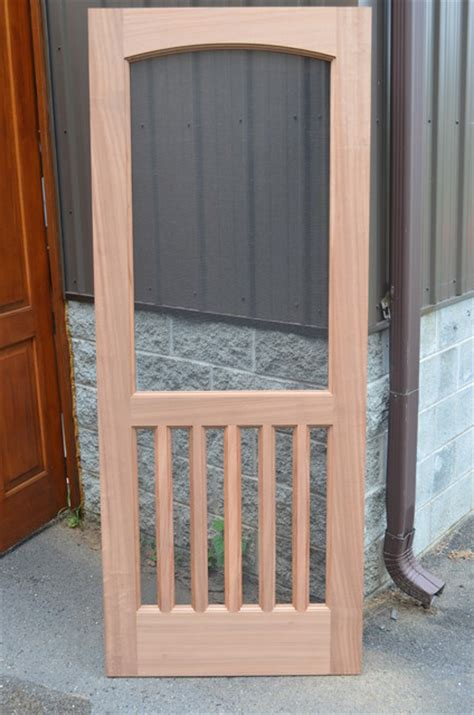 How To Build A Simple Screen Door by Wooden Screen Door Traditional Entry Other By M4l Inc