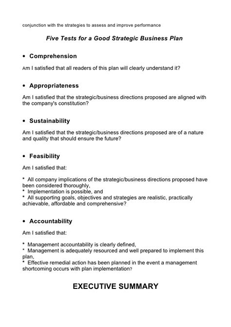 general business plan template 5 comprehensive strategic business plan template