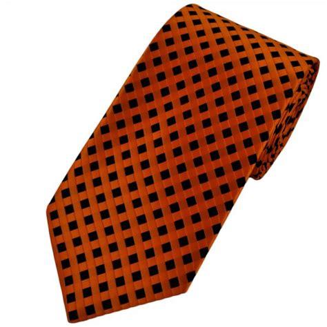 orange patterned ties orange black checked patterned men s tie from ties planet uk