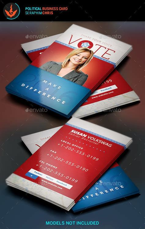 candidate business card template 25 best politic design images on political
