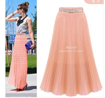 floor length high waist swing skirt 2015 summer fashion new casual chiffon skirts