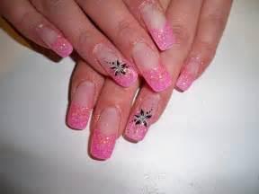 pink glitter nail art design design nail