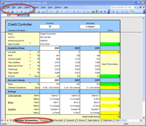 Credit Rating Template Xls Excel Credit Templates For Customer Credit Reports Credit Scores