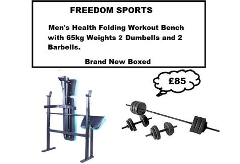 folding weight bench with weight set mens health weights bench with 65kgvinyl weights set 2