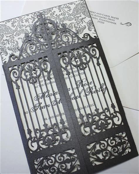 Black Elegance Wrpcc Laser Cut 10 trendy black and white wedding invitations