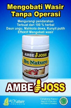 Ambeclear By Herbal De Nature obat uh buat ambeien parah herbal de nature de nature