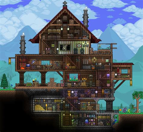 Terraria House Imgur Terraria House Ideas Pinterest House Layout Terraria