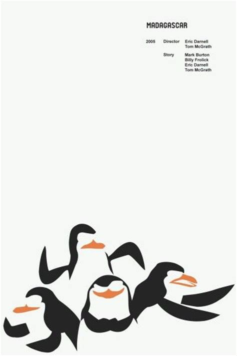 minimalist penguin tattoo madagascar minimalist movie poster minimalist movie