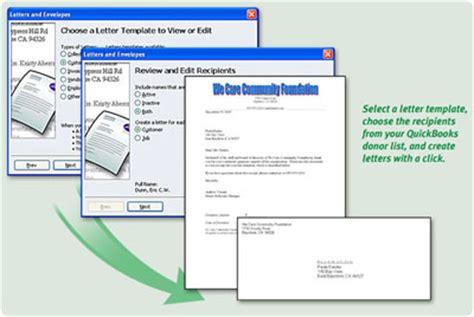 Donation Letter Quickbooks Quickbooks Premier Non Profit Edition 2006
