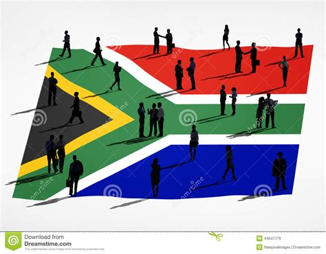 Business Schools In South Africa Mba by Business In A Meeting With South Africa Flag Stock