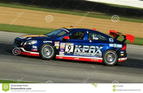 volvo track volvo s60 race car on the track editorial photography