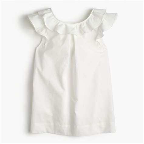 best cotton ruffle top in cotton poplin women blouses j crew