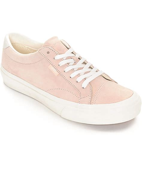 light pink low top vans vans court dx silver peony white womens shoes at zumiez