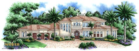 luxury waterfront home plan house plans lake or
