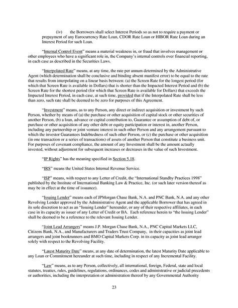 revolving credit agreement template 100 ontario revolving credit agreement