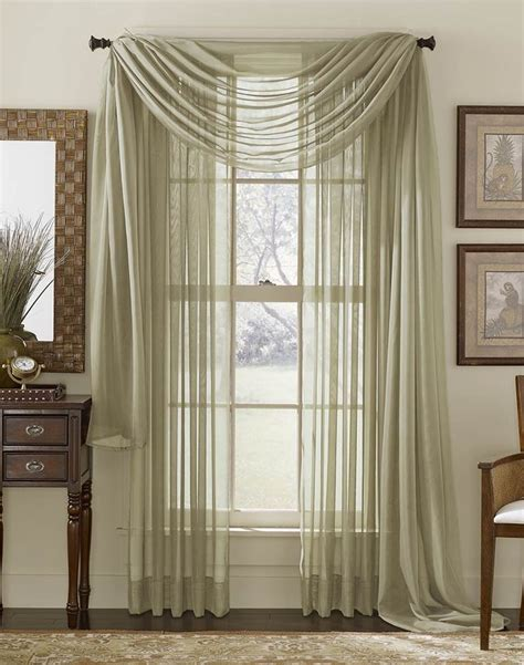sheer curtain scarf ideas window scarf yet another way to drape them pretty