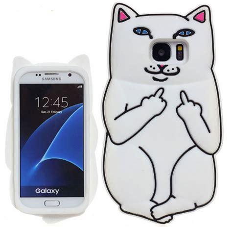 Samsung Galaxy S7 Edge 3d Premium Soft Casing Cover Bumper 3d samsung galaxy s5 s6 s7 edge s8 plus note 4 5 pocket cat animals soft