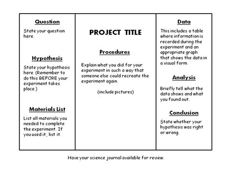 science fair project report sle science fair board exles mrs altwies allstars