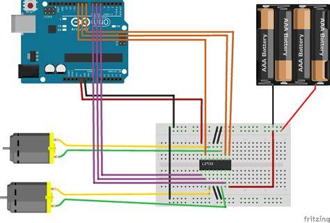e and l motors arduino l293d dc motors feiticeir0 s