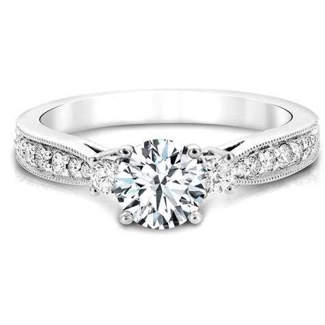 canadian engagement ring in white gold jacob