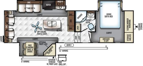 flagstaff 5th wheel floor plans flagstaff classic super lite fifth wheels floor plans by