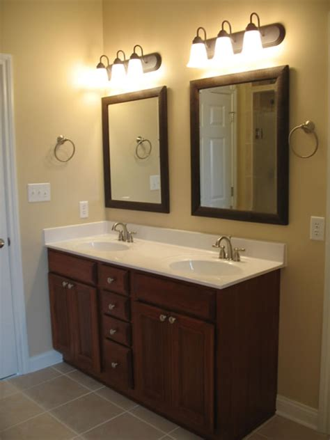 Bathroom Dual Sink Vanity upgrading one bathroom vanity sink to sinks home repair handyman