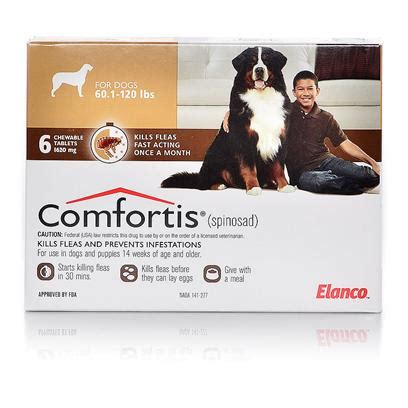chewable flea and tick for dogs comfortis for dogs and cats flea chewables petcarerx