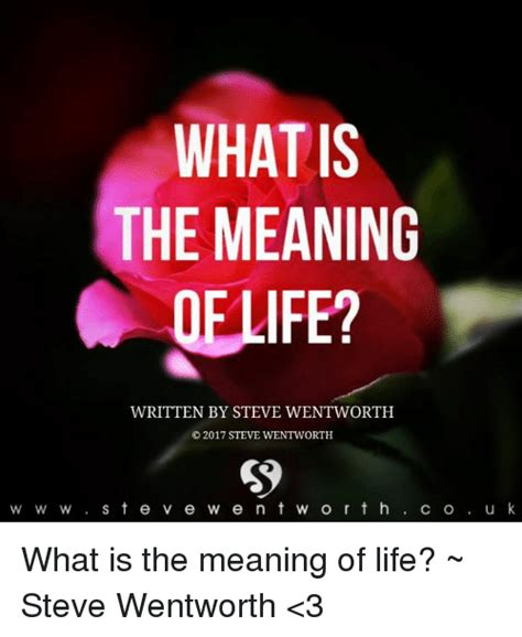 Jg Wentworth Meme - what is the meaning oelife written by steve wentworth