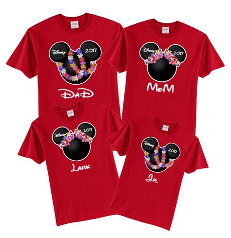 design t shirt for holiday disney hawaii family shirt pants mickey and minnie